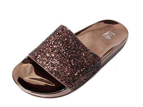 9e8d887b87a9 Kali Footwear Women s Bling Sparkly Star Slides Sandals - Buy Online in  UAE.