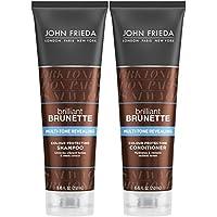 John Frieda Brilliant Brunette Multi-tone Revealing Color Protecting Duo set Shampoo + Conditioner, 8.45 Ounce, 1 Each