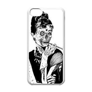 Fggcc Zombie Audrey Hepburn Case Cover for Iphone 5C,Zombie Audrey Hepburn Iphone 5C Shell Case (pattern 9)