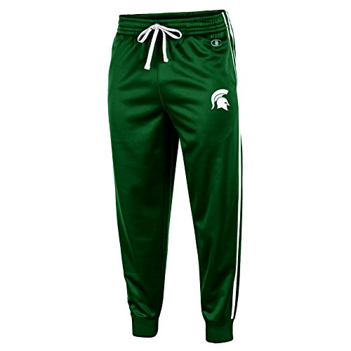 Champion (CHAFK) NCAA Michigan State Spartans Adult Men Pull on Track Pant, Small, - State Michigan Pants