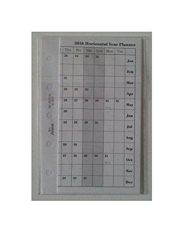 Filofax C68101-2016 2016 Refill Mini Horizontal Planner