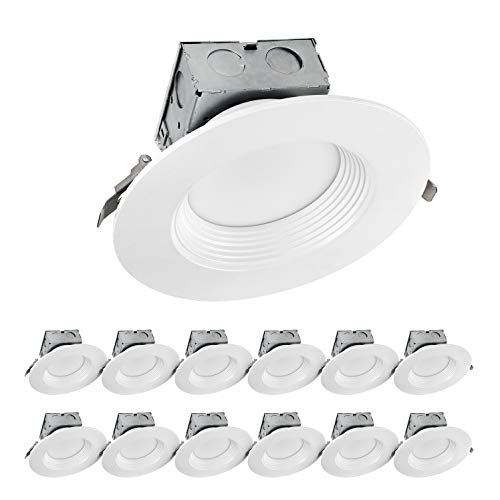 LUXTER (12 Pack) 6 inch LED Ceiling Recessed Downlight With Junction Box, LED Canless Downlight, Baffle Trim, Dimmable, IC Rated, 15W(120Watt Repl) 4000K 1100Lm Wet Location ETL and Energy Star Listed by Luxter (Image #6)