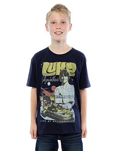 Star Wars Boys Luke Skywalker Rock Poster T-Shirt 5-6 Years Deep Navy