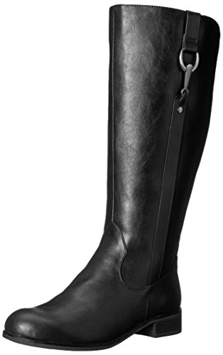 LifeStride Women's Sikora-WC Riding Boot, Black, 7.5 M US