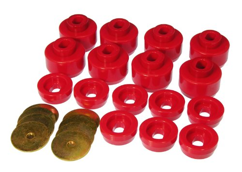 Prothane 7-141 Red Body and Cab Mount Bushing Kit - 16 Piece (Rear Cab Mount)