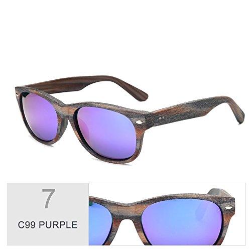 de en de gafas C99 la sol acetato PURPLE sol grano TL gafas madera Sunglasses Similar de C99 hombre al Violeta A64w7g1q