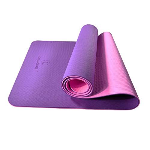 L LONGANCHANG Yogamat, TPE yogamat, gymnastiekmat, sportmat, fitnessmat, antislip, turnmat voor natuurlijk rubber, yoga…