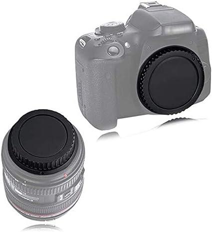 غطاء الجسم الأمامي وغطاء العدسة الخلفية بديل لكاميرا Canon EOS 60D 70D 77D 80D 7D 5D Mark II III IV 750D 760D Rebel T7 T6i T7i T6S T6S T4i T5i T5 استبدال هيكل الكاميرا والعدسات EF