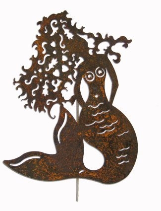 Elegant Mermaid Garden Stake / Garden Decor / Garden Art