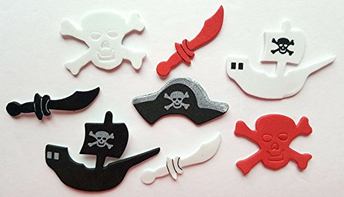 Nikki's Knick Knacks 86 Piece Foam Pirate Stickers