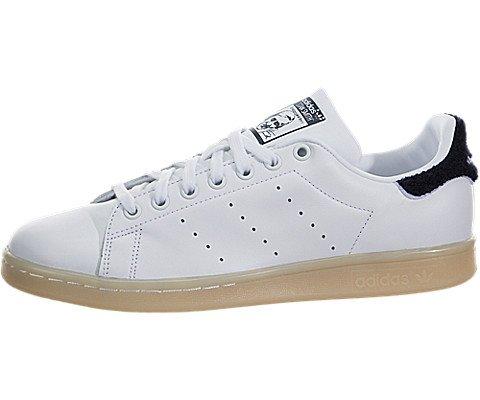 adidas Originals Women's Stan Smith w Fashion Sneaker, White/White/Collegiate Navy, 7 M US