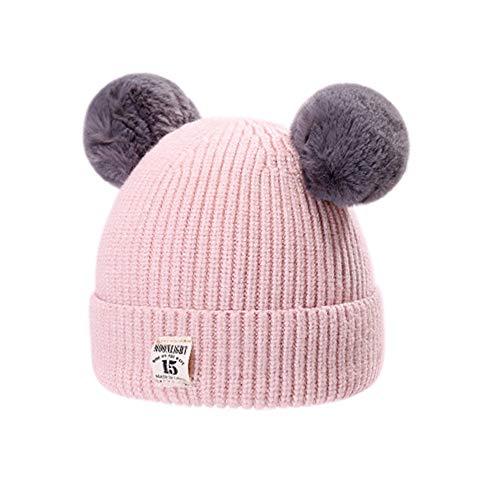 MK MATT KEELY Baby Toddler Winter Hat Unisex Warm Knit Hat Infant Kid Beanie Cap for Boys and Girls Pink