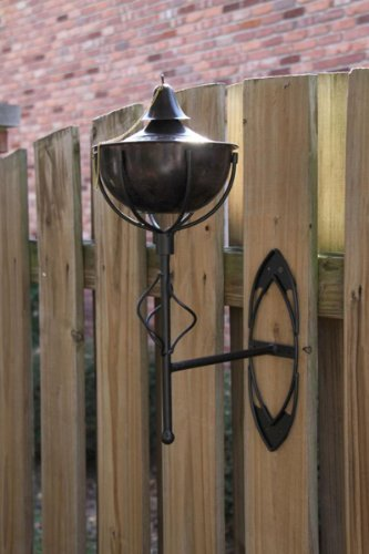 Set of 2 Maui Grande Tiki Torches Brown Patina