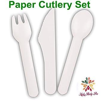 Amazon.com: Papel – Cubertería de 24 tenedores de papel ...