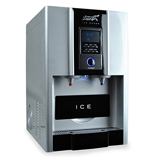 New Age Living Countertop Ice Maker And Water Dispenser | Make Hot And Cold Water Plus Ice Cubes | Compact And Portable Design (Water Ice Dispenser)