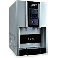 New Age Living Countertop Ice Maker And Water Dispenser | Make Hot And Cold Water Plus Ice Cubes | Compact And Portable Design