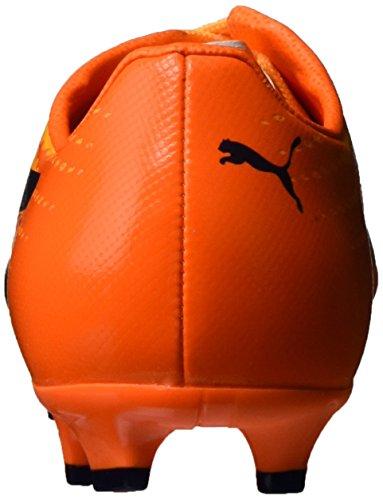 Puma Evospeed 17 Sl S Fg Jr, Botas de Fútbol Unisex Niños Amarillo (Ultra Yellow-peacoat-orange Clown Fish 02)