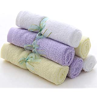 """Premium Bamboo Baby Washcloths - Ultra Soft Absorbent Baby Wash Cloths – Perfect for Sensitive Skin and Newborn Essential - Baby Shower Registry Gift for Boy Girl - 10""""x10"""""""