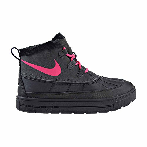 NIKE Woodside Chukka 2 GS Girls Big Kids Shoes Anthracite/Black/Pink 859425-001 (7 M US)