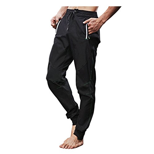 RockBros Breathable Athletic Pants Quick Dry Outdoor Cycling and Multi Sports Trousers Tranining For Spring and Summer Black - Cycling Clothing Summer
