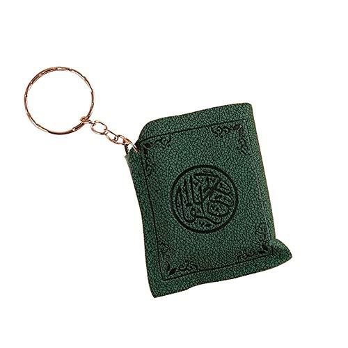 Connoworld Mini Islamic Muslim Ark Quran Book Key Chain Ring Car Bag Purse Pendant Charm - Green