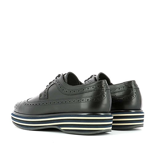 well-wreapped PALOMA BARCELÓ WOMEN'S FXLFVIBK BLACK LEATHER LACE-UP SHOES