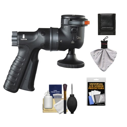 Vanguard GH-100 Pistol Grip Ball Head with Quick Release Supports 13.2 lbs. and includes Cleaning Accessory Kit