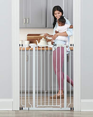 41YuMUJvkaL - Regalo Easy Step Extra Tall Walk Thru Baby Gate, Includes 4-Inch Extension Kit, 4 Pack Of Pressure Mount Kit And 4 Pack Wall Cups And Mounting Kit