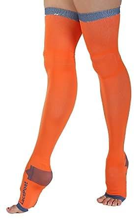 Poeta de encaje sin dedos calcetines de compresión Yoga/Sleep THIGH-HIGH varios colores: Amazon.es: Amazon.es