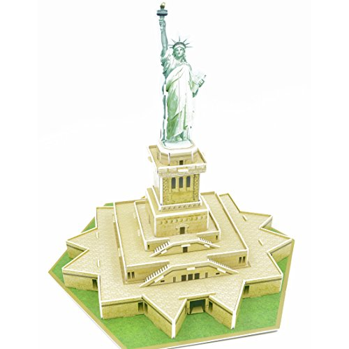 High Quality Cute Creative Magic Statue of Liberty 3D Puzzle Paper Models,Europe EN71,US ASTM F963,6P and 3C quality inspection,30 pieces - Europe Statue