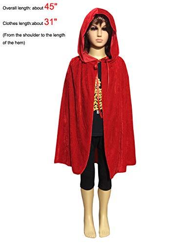 PENTA ANGEL Magic Halloween Christmas Party Vampire Dracula Hooded Cloak Fancy Cosplay Dress Costume Cape for Children (45