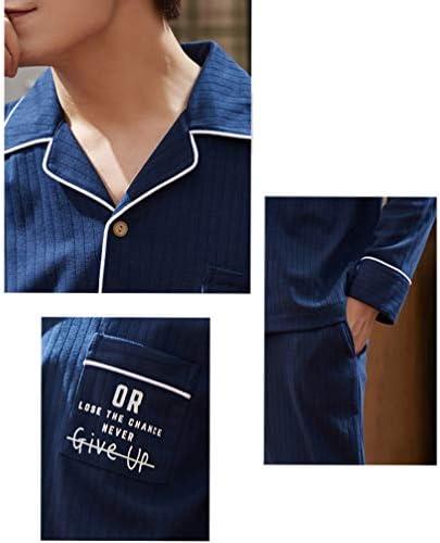 パジャマ ペア 春 夏 秋 レディース メンズ 綿 ストライプ 英語柄 Vネック ゆったり 長袖 吸汗 通気 快適 おそろい ルームウェア 部屋着 柔らかい 上下セット 寝巻き 大きいサイズ カップル M-XXXL レッド ブルー