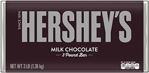 HERSHEY'S Chocolate Bar, Milk Chocolate Candy Bar, 48 (Giant Chocolate Bar)