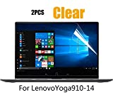 [2PCS Pack] Lenovo Yoga 910 Clear Anti-Scratch Whole Screen Protector Film for Lenovo Yoga 910 2-in-1 14'' Touch-Screen Laptop, 2-Piceces/Pack
