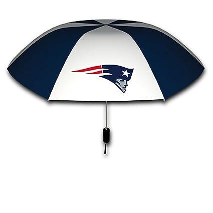 Amazon.com: New England Patriots 42-inch plegable paraguas ...