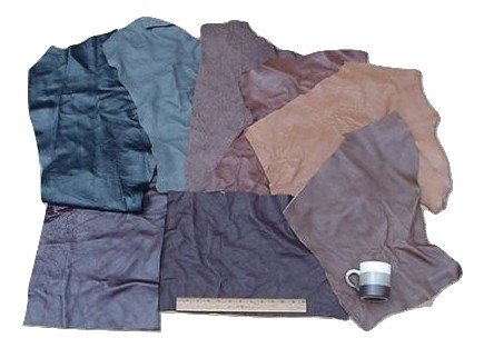 Scrap Upholstery Leather Mixed Jumbo Pieces Lw 12 Sf (Floss Jumbo Pack)