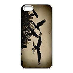 White Parrot Hight Quality Plastic Case for Iphone 5s
