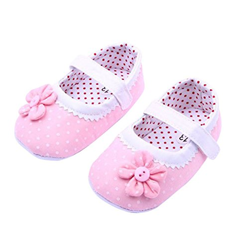 "Price comparison product image Amiley Baby boots , Summer Baby Girls Flower Shoes Soft Sole Toddler Crib Shoes (Age:6-12 Months /Length:12cm/4.73"", Light pink)"