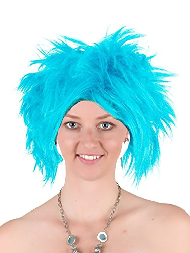 Funky Spiky Blue Wig Thing1/2 Punk Wig Heat Resistant Synthetic Hair Wig