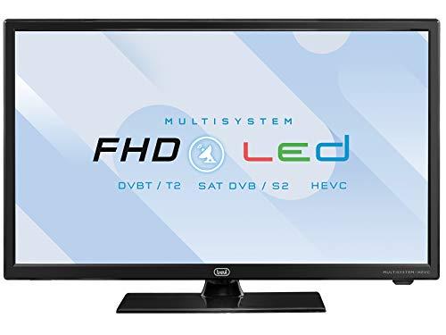 "Trevi LTV 2202 SAT Televisore LED 22"" con Decoder Digitale Terrestre DVBT-T2 e Satellitare DVBS-S2, HEVC 10 Bit, Presa Accendisigari 12V, Ideale per Camper, Compatibile Tivùsat, Funzione Hotel"