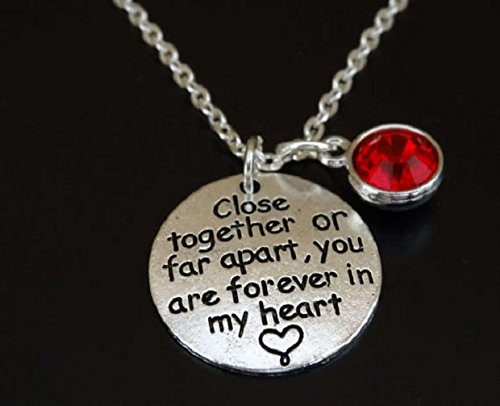 Close together or far apart you are forever in my heart Necklace Long Distance