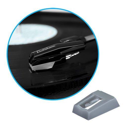 Electrohome de repuesto para aguja de punta de diamante (pack de 2) para tocadiscos/registro jugadores - EANOS300/501/502/700