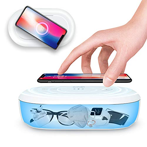 Cahot UV Light Sanitizer Box, Portable Phone UVC Light Sanitizer, 360 UV Sterilizer Box with Aroma Diffuser, Fast Charging for Smart Phone, UV Sterilizing Box for Cell Phone, Jewelry, Watches, Glasses