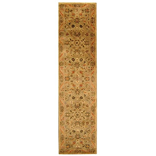 Traditional Hand Tufted Sage (Safavieh Antiquities Collection AT52A Handmade Traditional Oriental Olive and Gold Wool Runner (2'3