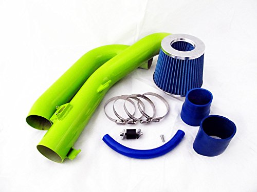 07 08 09 10 Scion tC 2.4L VVTi L4 Green Piping Cold Air Intake System Kit with Blue Filter by Monoka Racing (Image #2)
