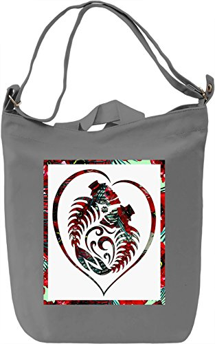 Love and Death Borsa Giornaliera Canvas Canvas Day Bag| 100% Premium Cotton Canvas| DTG Printing|