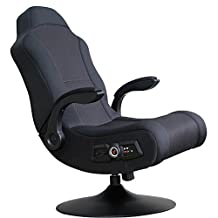 Ace Bayou X-Rocker - Commander Rocker Video Game Chair with 2.1 Wired Audio System - Black