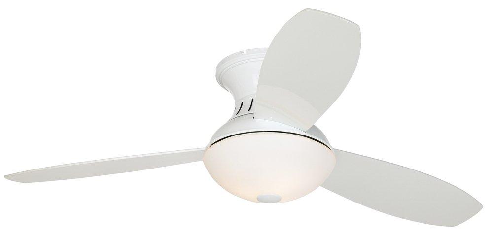 Possini euro design 44 encore white hugger ceiling fan amazon aloadofball Gallery