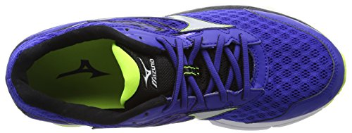 Mizuno Safety 12 Homme Surf The de Bleu Running Chaussures Silver Inspire Blue Wave Web Yellow Compétition 6E0wrq6