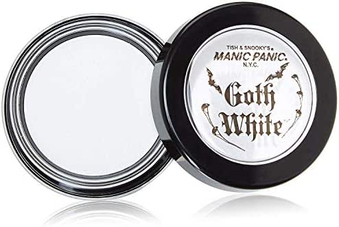 Manic Panic Goth White Cream-to-Powder Foundation - Full Coverage Foundation With Velvety Consistency, for Face, Eye Shadow Base, White Eyeshadow, Concealer to Hide Freckles, Blemishes, Flaws